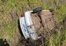 Herveiras: carro capota na RSC-153