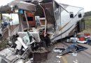 Acidente entre caminhão e motorhome deixa feridos na RSC-153