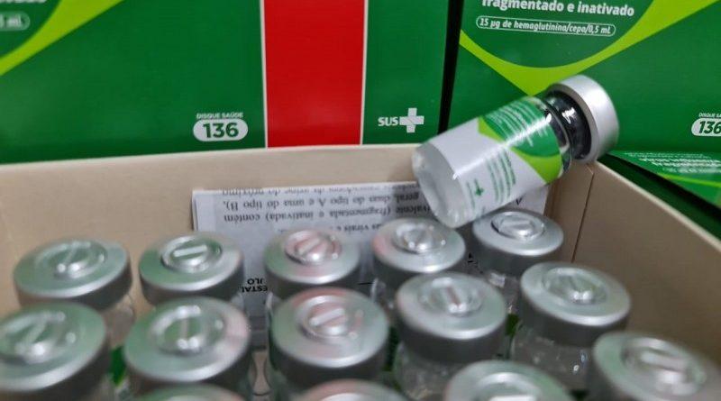 Sinimbu recebe mais 325 doses para vacinação contra Covid